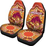 Brisbane Car Seat Covers Broncos Indigenous Warm Vibes
