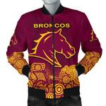 Brisbane Men's Bomber Jacket Broncos Indigenous K8