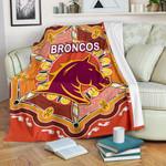 Brisbane Premium Blanket Broncos Indigenous Warm Vibes