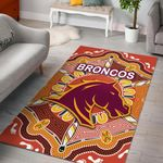 Brisbane Area Rug Broncos Indigenous Warm Vibes K8