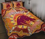 Brisbane Quilt Bed Set Broncos Indigenous Warm Vibes