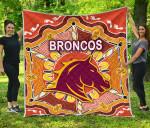 Brisbane Premium Quilt Broncos Indigenous Warm Vibes K8