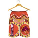 Brisbane Men Shorts Broncos Indigenous Warm Vibes