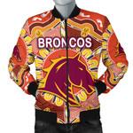 Brisbane Men's Bomber Jacket Broncos Indigenous Warm Vibes K8