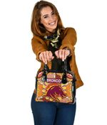 Brisbane Shoulder Handbag Broncos Indigenous Warm Vibes K8