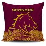 Brisbane Pillow Cover Broncos Indigenous K8