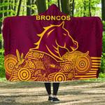 Brisbane Economy Hooded Blanket Broncos Indigenous K8
