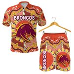 Combo Polo Shirt and Men Short Brisbane Broncos Indigenous Warm Vibes