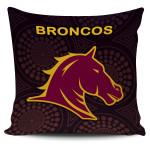 Brisbane Pillow Cover Broncos Simple Indigenous K8