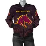 Brisbane Bomber Jacket for Women Broncos Simple Indigenous K8