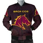 Brisbane Bomber Jacket for Men Broncos Simple Indigenous K8