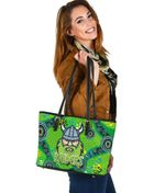 Canberra Small Leather Tote Raiders Viking Indigenous K8