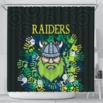 Canberra Shower Curtain Raiders Viking Simple Indigenous K8