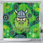 Canberra Shower Curtain Raiders Viking Indigenous K8