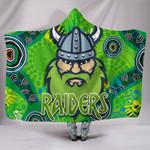 Canberra Hooded Blanket Raiders Viking Indigenous K8