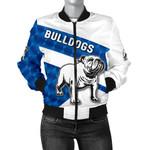 Bulldogs Bomber Jacket Sporty Style For Women K8