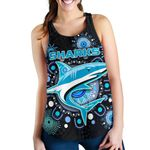 Cronulla Women Racerback Tank Sharks Indigenous