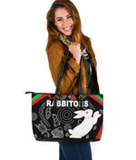 Rabbitohs Large Leather Tote Indigenous Mystery Vibes K8
