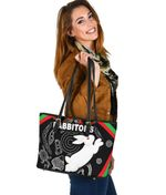 Rabbitohs Small Leather Tote Indigenous Mystery Vibes K8