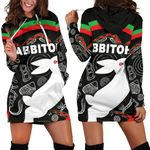 Rabbitohs Women Hoodie Dress Indigenous Mystery Vibes K8