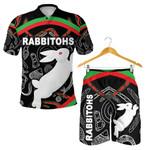 Combo Polo Shirt and Men Short Rabbitohs Indigenous Mystery Vibes