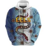 Parramatta Zip Hoodie Eels Simple Indigenous