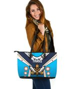 Gold Coast Large Leather Tote Titans Gladiator Simple Indigenous