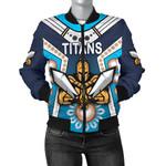 Gold Coast Women's Bomber Jacket Titans Gladiator Simple Indigenous