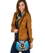 Gold Coast Canvas/Leather Saddle Bag Titans Gladiator Simple Indigenous