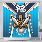 Gold Coast Shower Curtain Titans Gladiator Simple Indigenous