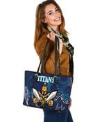 Gold Coast Small Leather Tote Titans Gladiator Indigenous K8