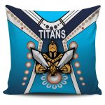 Gold Coast Pillow Cover Titans Gladiator Simple Indigenous