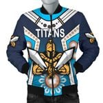 Gold Coast Men's Bomber Jacket Titans Gladiator Simple Indigenous