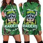 Raiders Women Hoodie Dress Aboriginal TH4