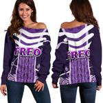 Fremantle Women Off Shoulder Sweater Dockers Simple Indigenous Freo