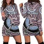 Warringah Women's Hoodie Dress Sea Eagles Indigenous K8