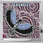 Warringah Shower Curtain Sea Eagles Indigenous K8