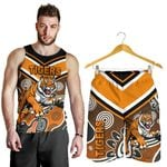Combo Men Tank Top and Men Short Wests Tigers Indigenous