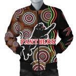 Panthers Black Men Bomber Jacket Indigenous Penrith Version | 1st New Zealand