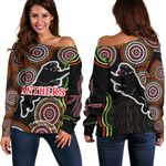 Panthers Black Off Shoulder Sweater Indigenous Penrith Version | 1st New Zealand