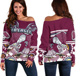 Sea Eagles Off Shoulder Sweater Special Indigenous | 1st New Zealand