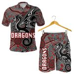 Combo Polo Shirt and Men Short St. George Dragons Unique Indigenous