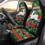South Sydney Car Seat Covers Rabbitohs Indigenous - Animals Aboriginal