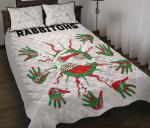 Rabbitohs Indigenous Quilt Bed Set Animals Aboriginal TH5