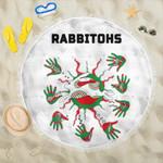 Rabbitohs Indigenous Beach Blanket Animals Aboriginal TH5