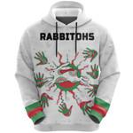 Rabbitohs Indigenous Hoodie Animals Aboriginal