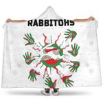 Rabbitohs Indigenous Hooded Blanket Animals Aboriginal TH5