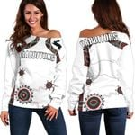 South Sydney Off Shoulder Sweater Indigenous Rabbitohs TH5
