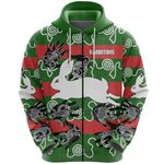 South Sydney Zip Hoodie Rabbitohs Indigenous TH5