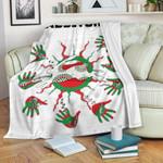 Rabbitohs Indigenous Premium Blanket Animals Aboriginal TH5